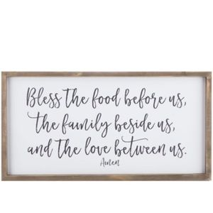 Bless The Food Wood Wall Decor.